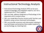 instructional technology analysts