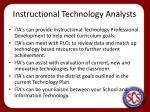 instructional technology analysts1