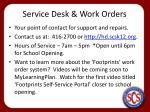 service desk work orders
