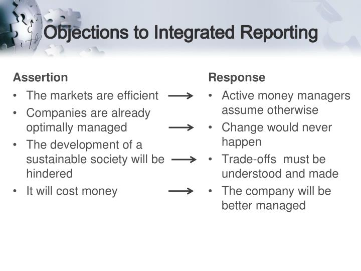 Objections to Integrated Reporting