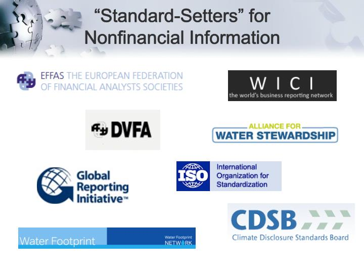 """Standard-Setters"" for Nonfinancial Information"
