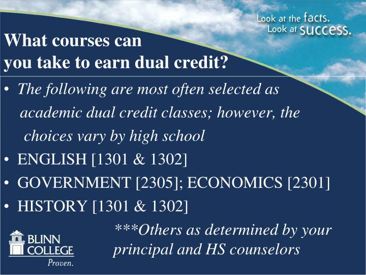 What courses can