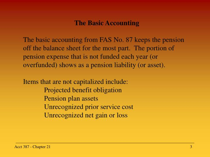 The Basic Accounting