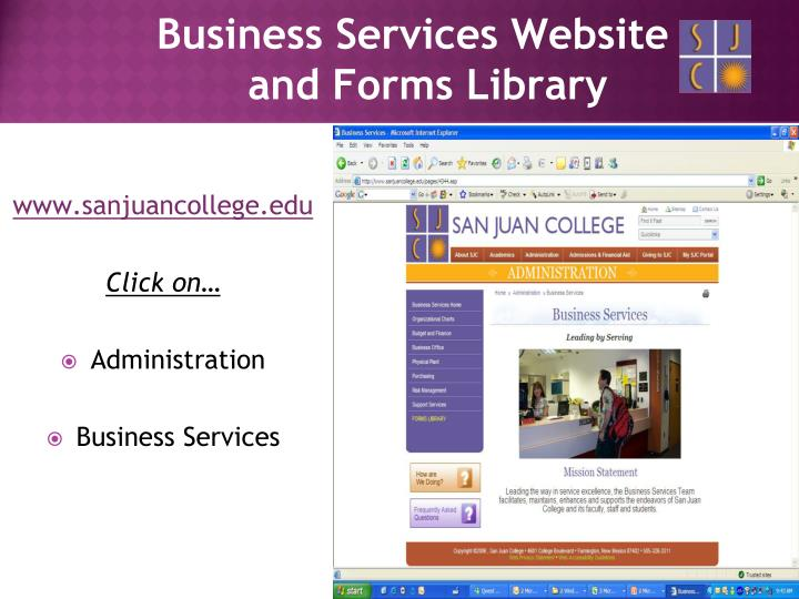 Business Services Website