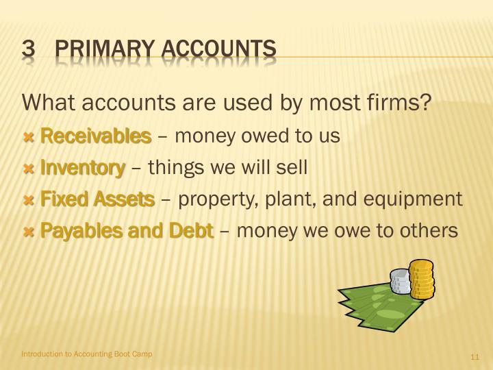 3   Primary accounts
