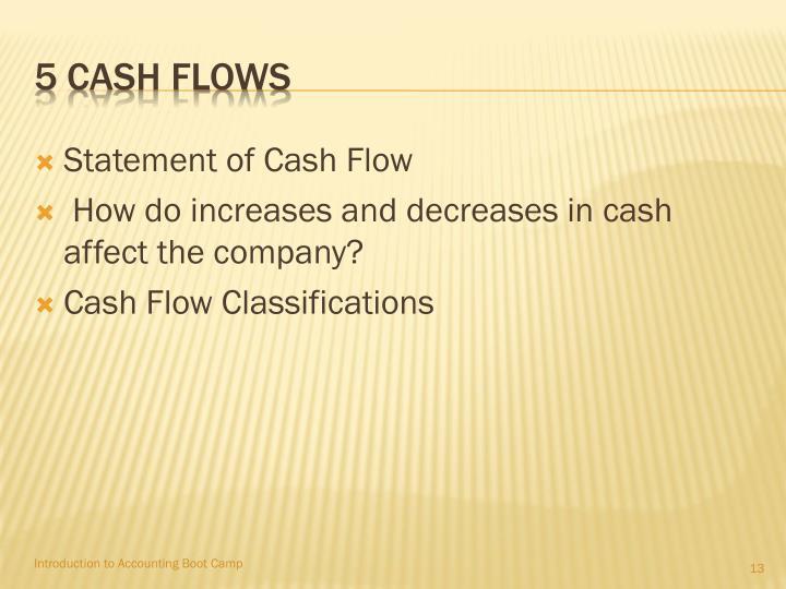 5 Cash Flows