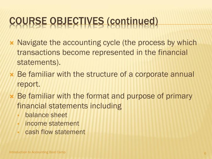 Course objectives (