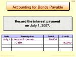 accounting for bonds payable1
