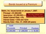 bonds issued at a premium1