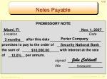 notes payable1