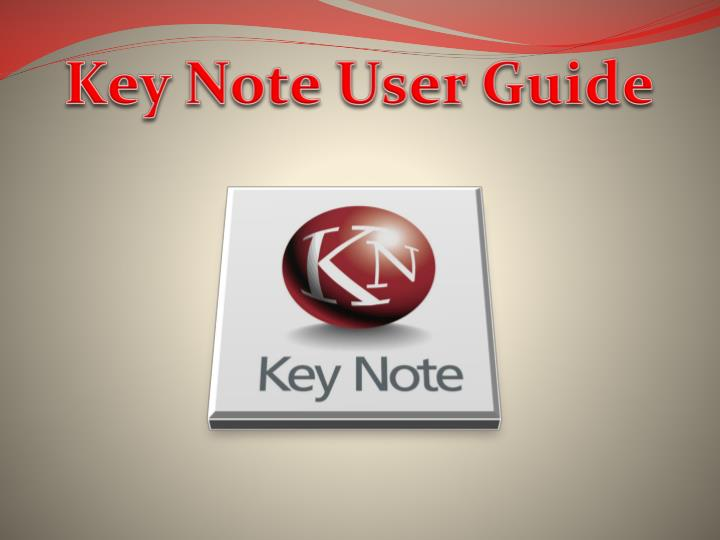 Key Note User Guide
