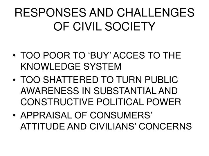 RESPONSES AND CHALLENGES OF CIVIL SOCIETY