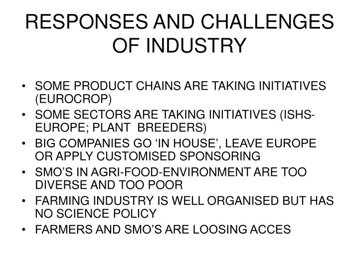 RESPONSES AND CHALLENGES OF INDUSTRY