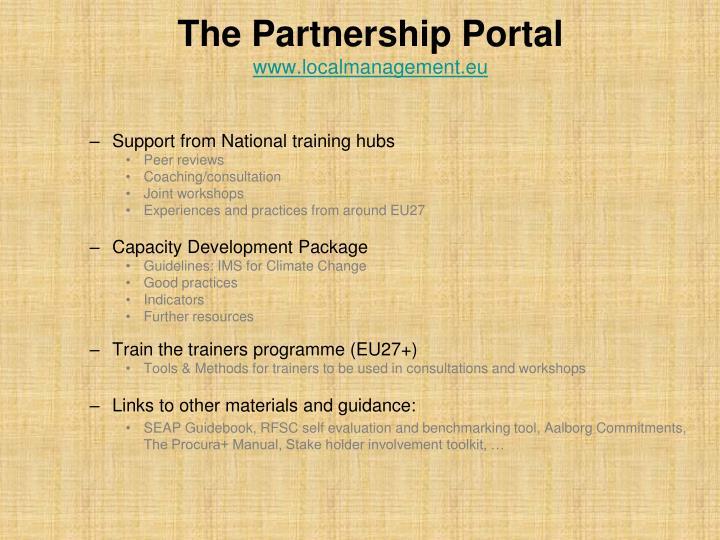 The Partnership Portal