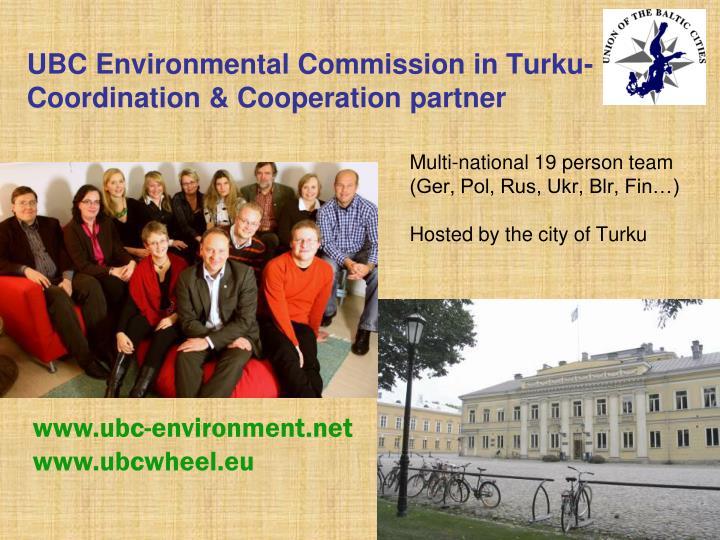 UBC Environmental Commission in Turku-