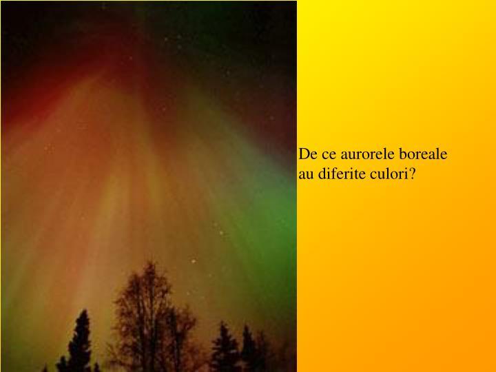De ce aurorele boreale au diferite culori?