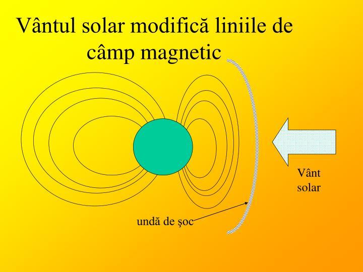Vântul solar modifică liniile de câmp magnetic