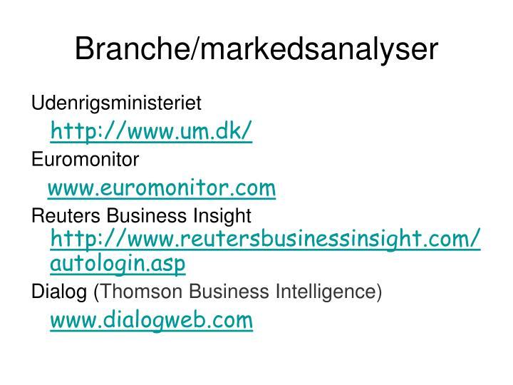 Branche/markedsanalyser