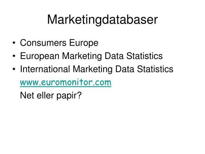 Marketingdatabaser