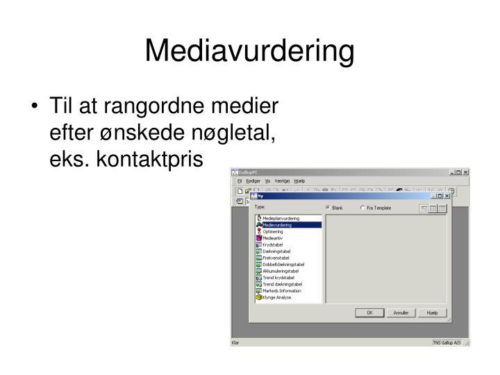 Mediavurdering
