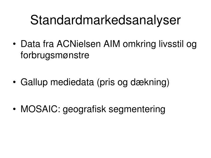 Standardmarkedsanalyser