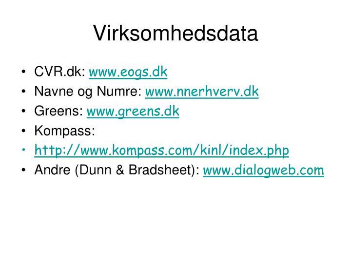 Virksomhedsdata