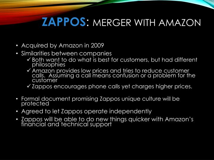 """zappos amazon acquisition The heart of ms banjo's argument is that when amazon acquired zappos, the  company was, similarly to quidsi, a """"formidable contender"""" that."""