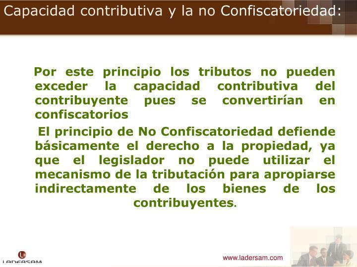 Capacidad contributiva y la no