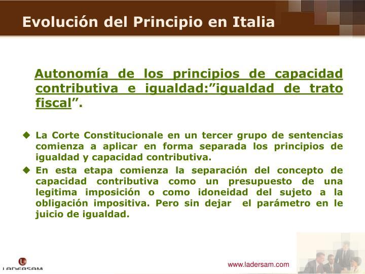 """Autonomía de los principios de capacidad contributiva e igualdad:""""igualdad de trato fiscal"""