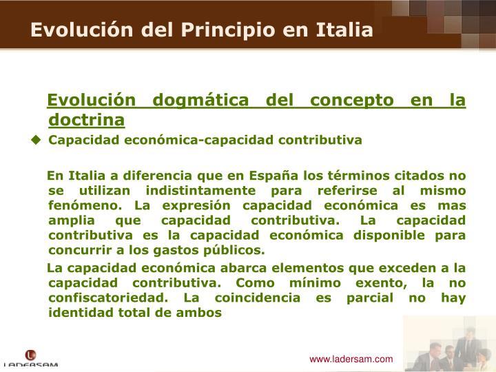 Evolución dogmática del concepto en la doctrina