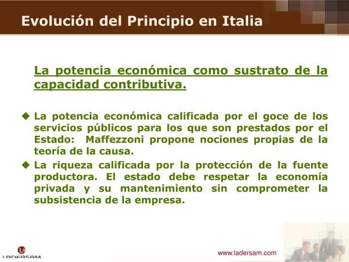 La potencia económica como sustrato de la capacidad contributiva.