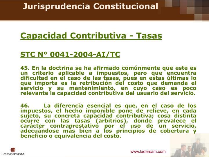 Capacidad Contributiva - Tasas