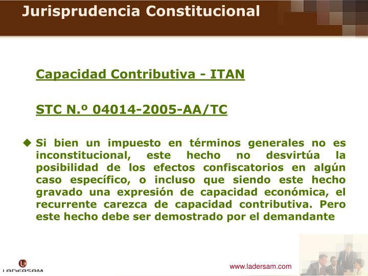 Capacidad Contributiva - ITAN