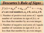 descartes s rule of signs