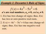 example 1 descartes s rule of signs