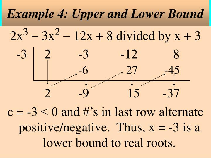 Example 4: Upper and Lower Bound