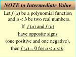 note to intermediate value
