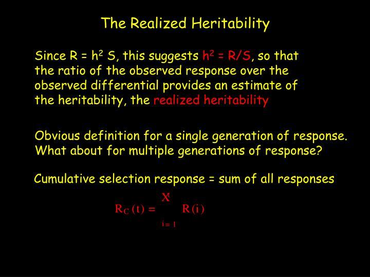 Cumulative selection response = sum of all responses