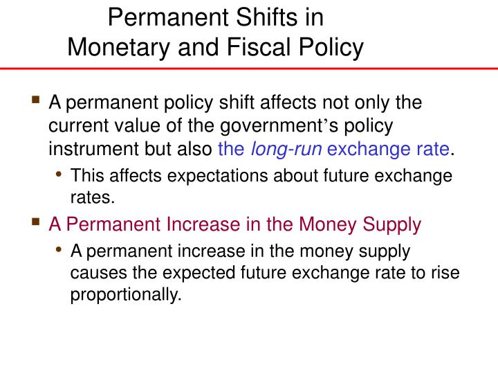 Permanent Shifts in
