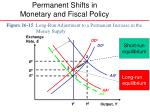 permanent shifts in monetary and fiscal policy3