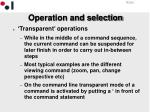 operation and selection2