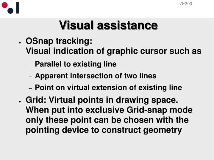 Visual assistance