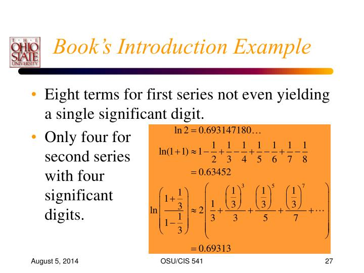 Book's Introduction Example