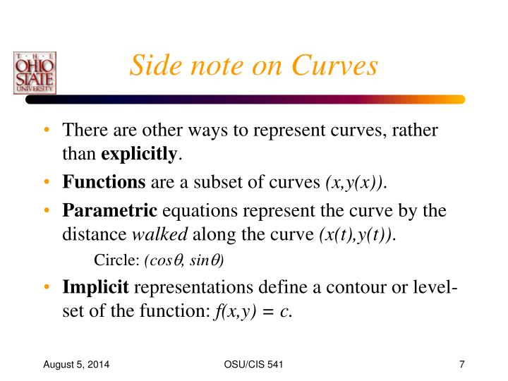 Side note on Curves