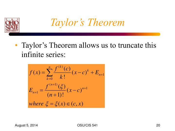 Taylor's Theorem