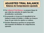 adjusted trial balance balance de comprobacion ajustado