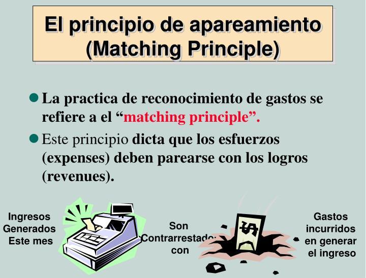 El principio de apareamiento (Matching Principle)
