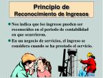 principio de reconocimiento de ingresos