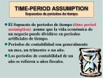 time period assumption supuestos de periodos de tiempo