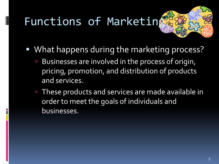 Functions of marketing1